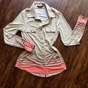 BCBG Long Sleeve Blouse